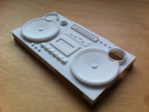 Iphone4/S Boombox case in White Strong & Flexible