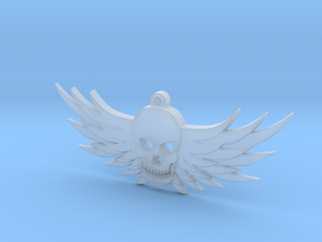 Winged Skull Pendant in Smooth Fine Detail Plastic