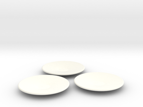 DishLarge plate 1/12✖3 in White Strong & Flexible Polished