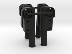 4x Beinhalter in Black Strong & Flexible