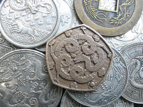 Steel Dragon Coin in Stainless Steel