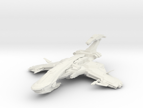 Scorpion Class BattleCruiser III in White Strong & Flexible