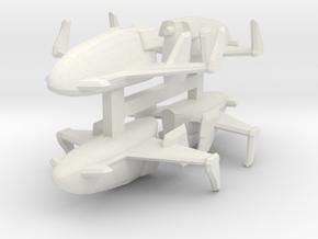Cobra Firebat x4 1/144 in White Natural Versatile Plastic