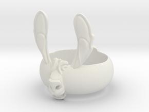 LlamaRing S9 in White Natural Versatile Plastic