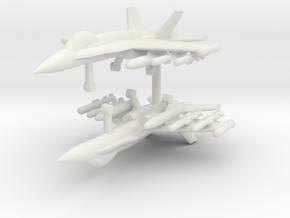 1/285 F-18C Hornet (Anti-Ship Loadout) (x2) in White Natural Versatile Plastic
