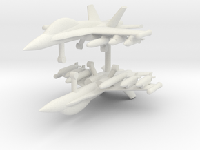 1/285 F-18D Hornet (Strike Loadout) (x2) in White Natural Versatile Plastic