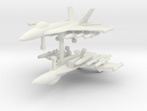1/285 F-18E Super Hornet (Anti-Ship Loadout) (x2) in White Natural Versatile Plastic
