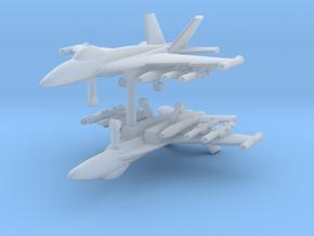 1/285 F-18E Super Hornet (Anti-Ship Loadout) (x2) in Smooth Fine Detail Plastic