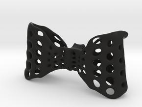 Men's Bow-Tie (built in clip)! in Black Natural Versatile Plastic