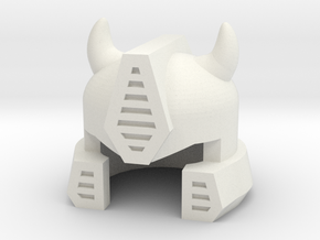 Robohelmet: Iddle Bug in White Natural Versatile Plastic