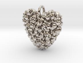 365 Hearts Pendant in Platinum