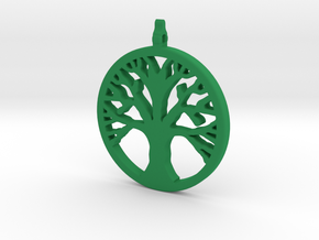 Tree Pendant in Green Processed Versatile Plastic