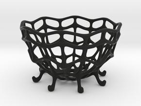 Art Deco Egg Holder in Black Natural Versatile Plastic