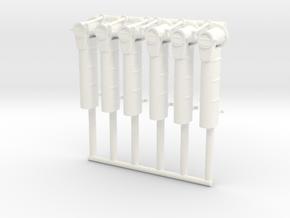 Vosper Exhausts 1/35 Scale. in White Processed Versatile Plastic