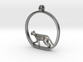 Cat in Polished Silver