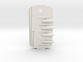 Scifi Dogtag in White Natural Versatile Plastic