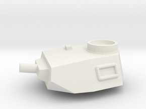 Turret Europe #2, Panzer IV Short Barrel (n-scale) in White Strong & Flexible