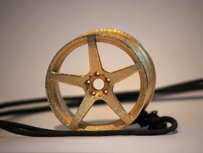 Scaled 1:12 5 Spoke Performance Wheel in Polished Gold Steel