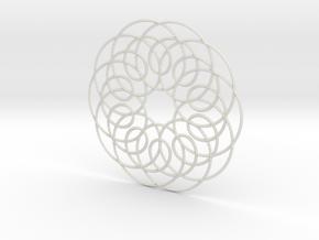 Spirograph01 in White Natural Versatile Plastic