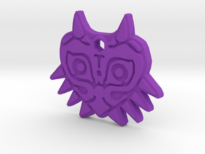 Zelda Majoras Mask Necklace in Purple Processed Versatile Plastic