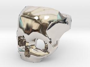 Skull Ring US 9 in Platinum