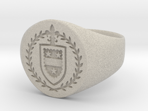 StCyr Crest Ring - Circular - Size 9 in Natural Sandstone