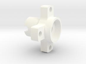 Yokomo Wheel Adapter RC10 Mod (1pcs) in White Processed Versatile Plastic