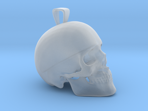 Skull Pendant in Smooth Fine Detail Plastic