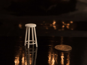 "1:24 30"" Simple Stool in White Strong & Flexible"