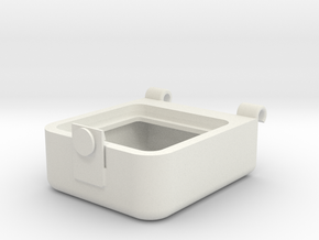 Transport Box Top 25mm in White Natural Versatile Plastic