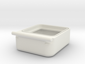 Transport Box Bottom 25 mm in White Natural Versatile Plastic