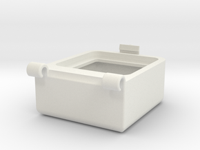 Transport Box Top 30mm in White Natural Versatile Plastic