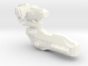 Small Spaceship 2 in White Processed Versatile Plastic