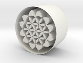 Fol Dish 3inch in White Natural Versatile Plastic