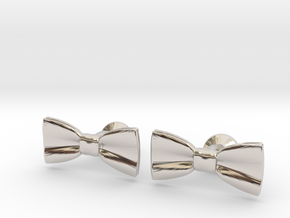 Bow Tie Cufflinks in Platinum