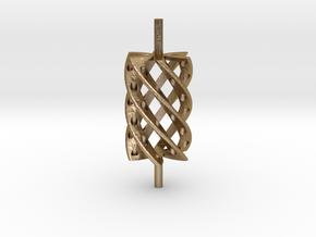 Twist Roller4hollo in Polished Gold Steel