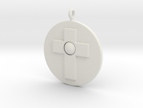 Cross pendant in White Natural Versatile Plastic