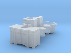 HO scale Bath Only in Smooth Fine Detail Plastic