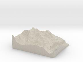 Model of Birg in Natural Sandstone