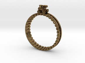 Train Nr1 Ring in Polished Bronze: 7 / 54
