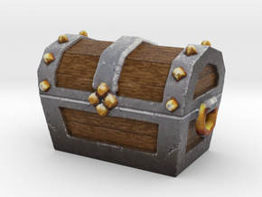Miniature Ancient Treasure Chest  in Full Color Sandstone
