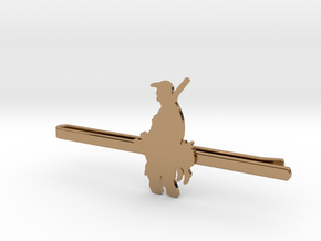 Duck Hunter Tie Clip  in Polished Brass