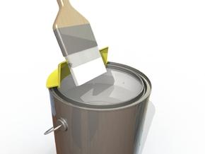Ergonomic 1 Gallon Paint Brush Wiper in White Natural Versatile Plastic