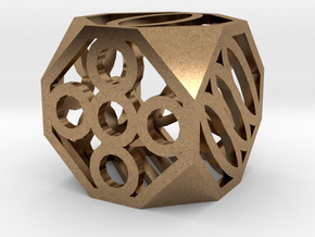 Dice106 in Natural Brass