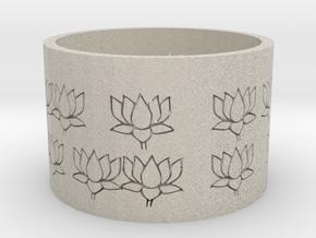 Candle holder/Kaarsenhouder voor Kaarsen van Ø 7 c in Sandstone