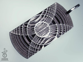 Reverb Tag Pendant from unellenu's Resonator range in Polished Silver