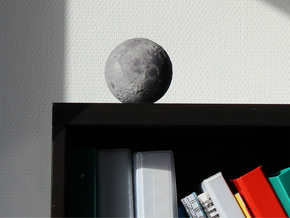 Moon with surface detail in Full Color Sandstone