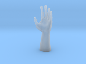 Human Hand in Smooth Fine Detail Plastic