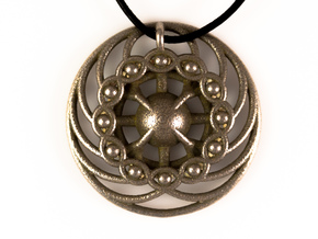 Nexus Eye Mandala in Polished Bronzed Silver Steel