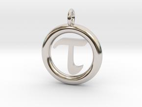 Tau Open Unit(cm) Pendant in Platinum